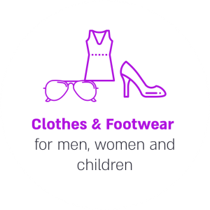 Clothes & Footwear for men, women and children