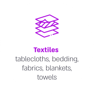 Textiles tablecloths, bedding, fabrics, blankets, towels